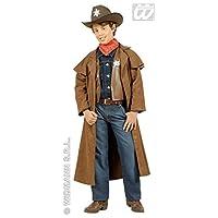 Magic Box Kids Brown Cowboy Sheriff Costume