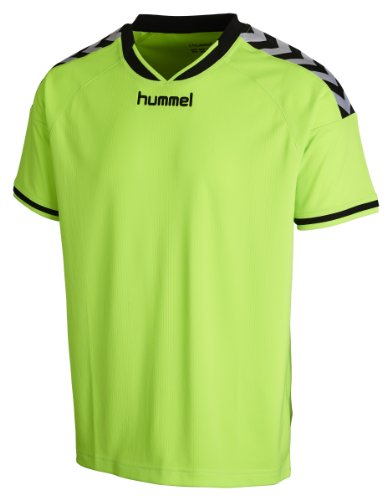 Hummel STAY AUTHENTIC Kinder Sport T-Shirt Polyester, Grün (Green Gecko), Gr. 10-12 (140-152) (Gestickte Hummel)