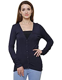 MansiCollections Classic Black Cardigan for Women's