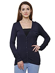 MansiCollections Classic Black Cardigan for Womens