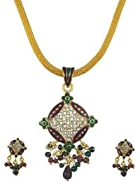 "Aakhi ""Circle of Diamonds"" Meenakari Modern Set for Women"