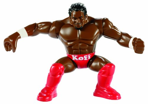WWE - Power Slammers - Kofi Kingston - Figurine Action Motorisée 12 cm