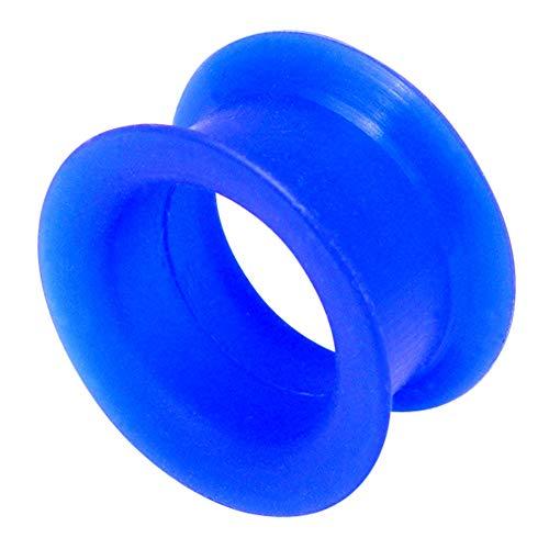 Silikon Ohr Flesh Tunnel. Größe 12mm, blau. Weich Flexi flexibel Silikon Ohr Plug Expander Keilrahmen Tube Öse. gedehnt-Lobe. TDI Body Piercing Schmuck Schmuck Größe Karte im lieferumfang enthalten.