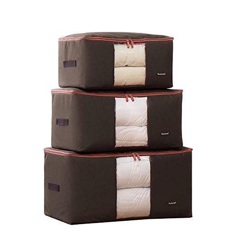 Fyore set custodie impermeabili antibatteriche da riporre sotto il letto Custodie di grandi dimensioni con chiusura lampo e finestra trasparente molto grande Per riporre vestiti cuscini impermeabile