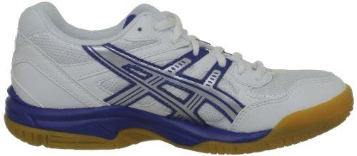 Asics  GEL-DOHA GS, Jungen Hallen & Fitnessschuhe, weiß White/Blue/Silver