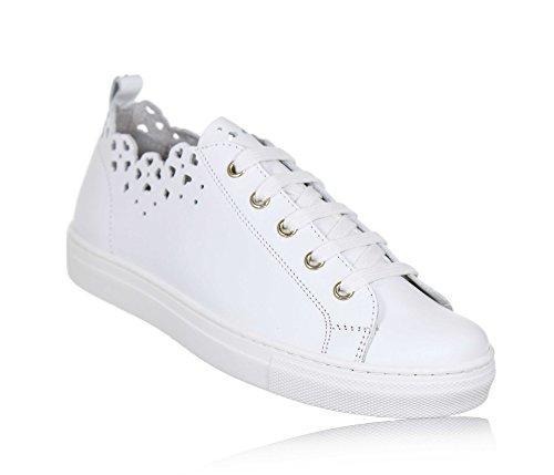 Twinset Milano Twin-Set Weißer Schuh mit Schnürsenkeln Aus Leder, phantasievoll und Modisch, Weiße Schnürsenkel, Mädchen, Damen-28