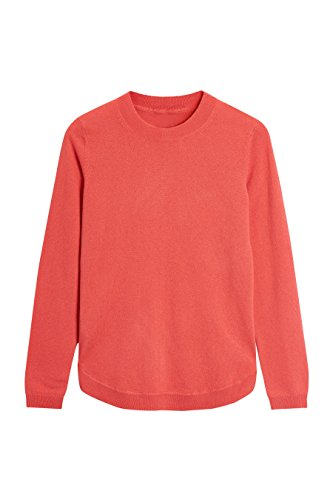 Next donna maglia in cashmere con fondo arrotondato corallo eu 46 (uk 18)