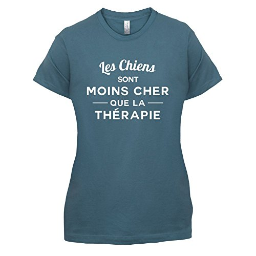 Les chiens sont moins cher que la thérapie - Femme T-Shirt - 14 couleur Bleu