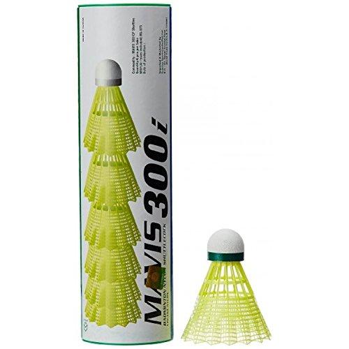 Yonex Mavis 300i Nylon Shuttlecock Pack of 6 Green/Yellow  Pack of 1 Badminton Shuttlecocks