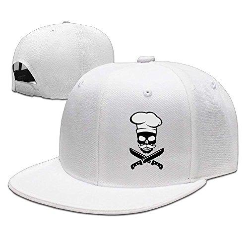 Hoswee Unisex Kappe/Baseballkappe, Michgton Skull Chef Mustache Snapback Adjustable Flat Bill Baseball Cap