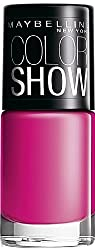 Maybelline New York Color Show Nail Enamel, Feisty Fuschia, 6ml