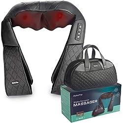 Display4top Masseur à épaule, Peut être utilisé à la maison, au bureau, voiture, peut soulager efficacement les douleurs à l'épaule, au dos, au mollet et autres, Sac à main inclus (noir)