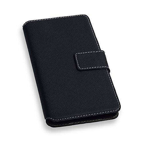 """Elegantes Premium Bookstyle Handytasche Flip Case Wallet schwarz für """"Sony Xperia E5"""" Handy Schutz Hülle Etui Schale Book Case Cover"""
