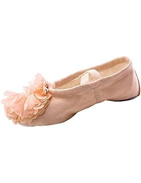 La Vogue Zapatos Zapatilla de Baile Flor para Niña Unisex