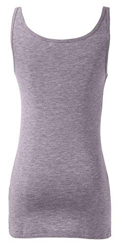 WENSENY Donna BXD Casual Canotta Senza Maniche T Shirt Grigio