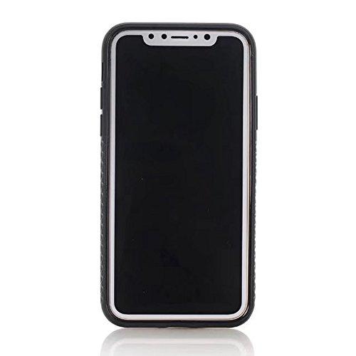 JIALUN-étui pour téléphone Pour IPhone X Edition, PC double couche + TPU double couche PC + TPU Hybride Shell Cover Case [Antichoc] ( Color : Black ) Yellow