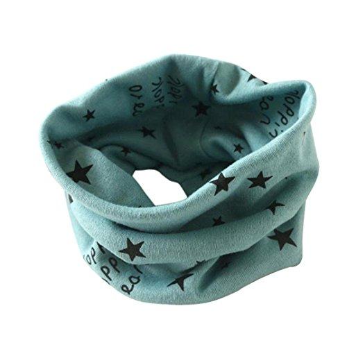 Green Knit Beanie Cap (Kolylong Jungen Baumwolle Kragen Schal O-Ring Ansatz Verpackungs Schals (2 bis 10 Jahre alt.) C)