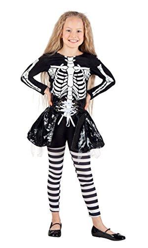 Boland 78076 - Kinderkostüm Skelett Mädchen, Gröߟe 140, (Von Halloween Kostüme 8 Alter Im Mädchen Für)