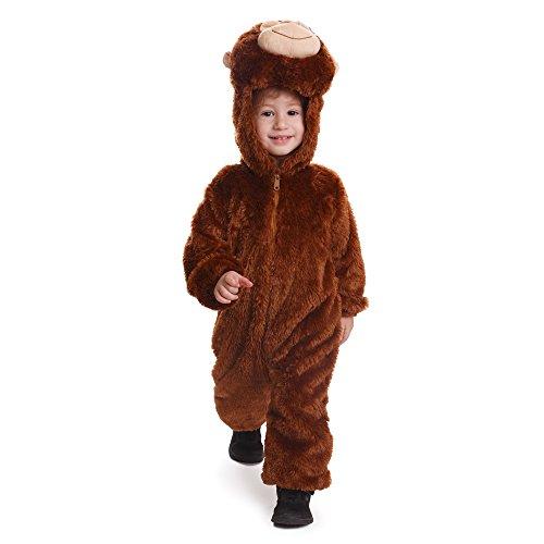 Dress Up America Kleinkinder und Kinder Plüsch Affe Kostüm Kuschel Affen Overall