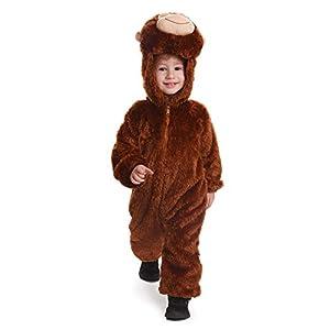 Dress up America Niños Pequeños y niños de Peluche Mono Disfraz Manta Monos Mono