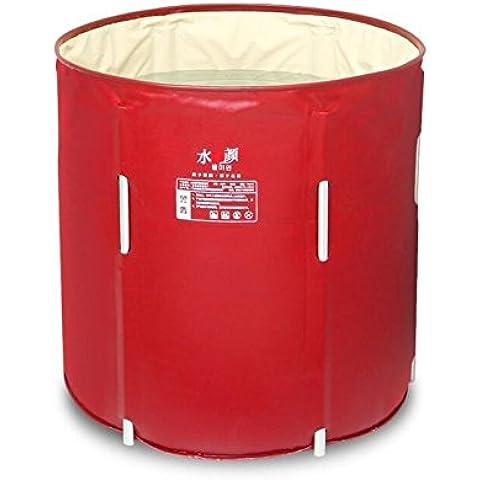 IOL Pieghevole canna vasca/vasca da bagno idromassaggio gonfiabile b tamburo/vasca/doccia , red