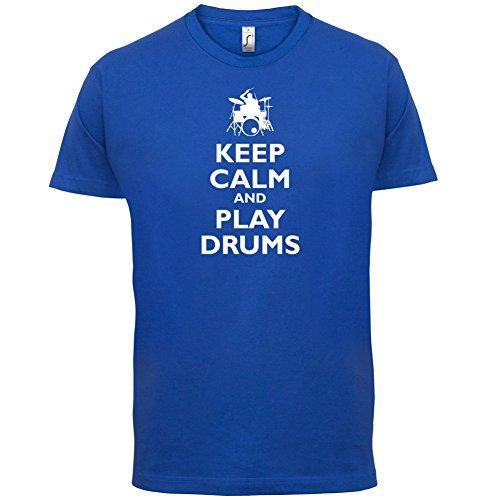 Keep Calm and Play Drums - Herren T-Shirt - 13 Farben Royalblau