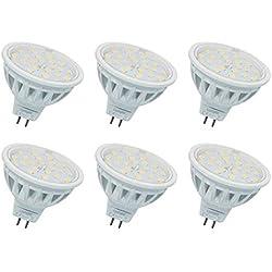 MR16 Ampoule LED Gu5.3 Spotlight(Deuxième génération) Équivalent 60W Halogène Blanc Chaud 3000K AC/DC12V 600LM Lot de 6.