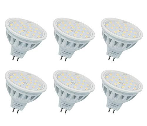 MR16 LED Lampen Gu5.3 Strahler(Die zweite Generation),Ersetzen 60W Halogen Lampe Warmweiß 3000K,AC/DC12V 600LM,6er Pack. -