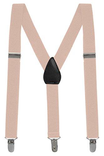 Buyless Fashion Kinder und Baby 2,5 cm Elastische verstellbare Y Hosenträger - Mit starken Clips - 5102 Farbe: Beige | Größe: 66 cm (3-9 Jahre) - Für Kinder Hosenträger Große