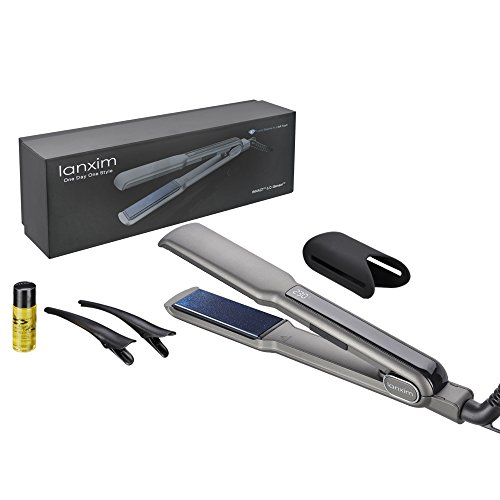 lanxim-1-1-4-inch-hair-straightener-set-digital-lcd-display-130-230-high-heat-professional-tourmalin