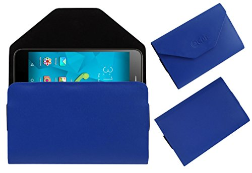 Acm Premium Flip Flap Pouch Case For Micromax Canvas Unite 4 Pro Q465 Mobile Leather Cover Magnetic Closure Blue  available at amazon for Rs.179