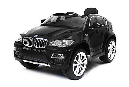 Toyas BMW X6 Jeep SUV Kinder Elektro Auto Kinderfahrzeug 12V Schwarz