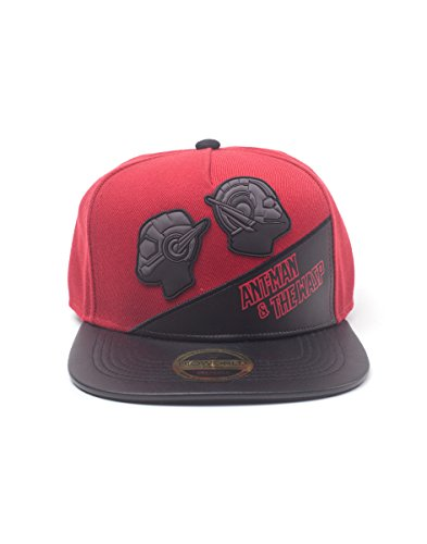 Marvel Unisex Comics Ant-Man & The Wasp Rubber Patch Snapback, Multi-Colour (SB532055ANW) Baseball Cap, Rot Red, One Size (Wasp Marvel Kostüm)