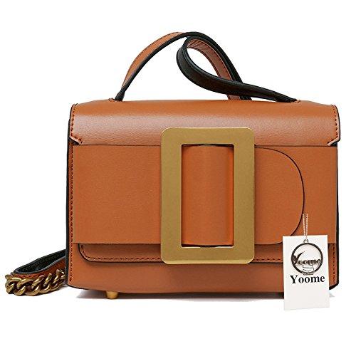 Yoome Damen Rindsleder Leder Abend Handtaschen Kleine Kupplung, Vintage Crossbody Geldbörse für Damen (Verschluss-kupplung Geldbörse)