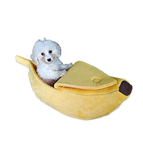 Oncpcare - Cama para Gatos de plátano Amarillo, Suave Cama para Perro,...