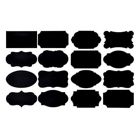 Étiquettes de tableau de Vancool - 80 autocollants imperméables Premium pour jarres + marqueur de craie blanche effaçable. Les meilleures et grandes étiquettes réutilisables à Oragnize et Storage