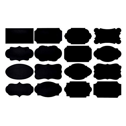 Vancool Tafel Etiketten - 80 Premium wasserdichte Aufkleber für Jars + Erasable White Chalk Marker. Die besten und großen und wiederverwendbaren Etiketten zu verteilen und Lagerung