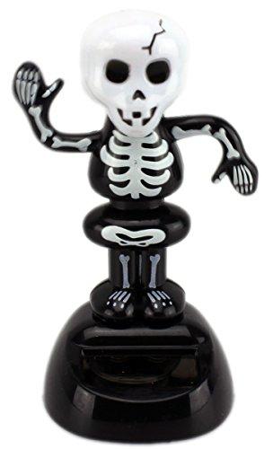 ett ~ Wackmonster Solar ~ 10 cm auf Sockel (Lustige Halloween Skelette)