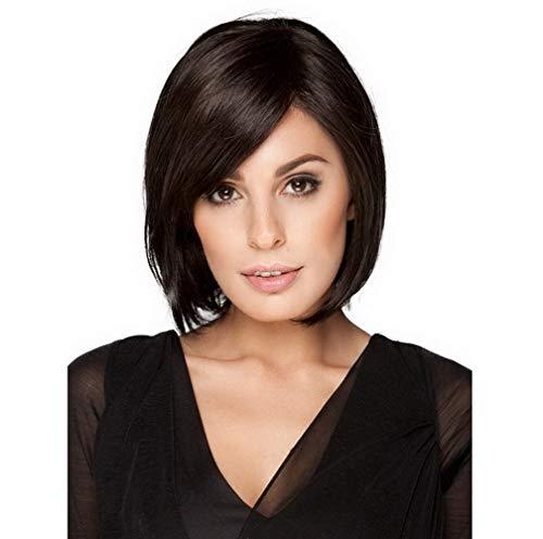 zes Haarweiblich Gute Qualität Schwarz Haarteil mit Rosennetz für Frauen Cosplay Party Halloween-Kostüm Fashion ()