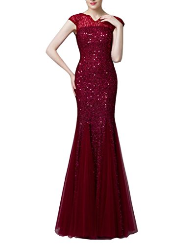 Emmani - Robe - Femme rouge vin