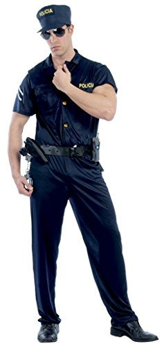 Mens Special Agent Police Officer FBI SWAT Uniform Fancy Dress Costume Outfit Large (Large)
