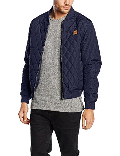 Urban Classics Herren Jacke Diamond Quilt Nylon Jacket Blau (Navy 155)