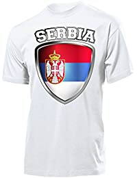 FOOTBALL WORLD CUP - EUROPEAN CHAMPIONSHIP SERBIA FAN T-Shirt Homme Small - XX-Large - Deluxe