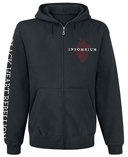 Insomnium Black Heart Rebellion Kapuzenjacke schwarz Schwarz