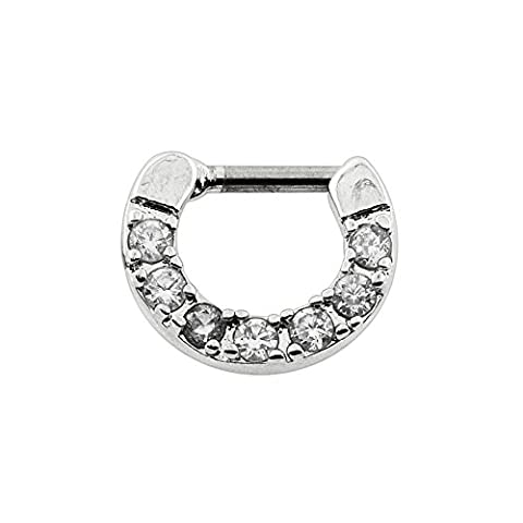 5 Micro Setting CZ Crystal Stone 316L Surgical Steel 14