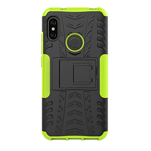 """FaLiAng XiaoMi Mi A2 Lite(5.84"""") Funda, 2in1 Armadura Combinación A Prueba de Choques Heavy Duty Escudo Cáscara Dura para XiaoMi Mi A2 Lite(5.84"""") (Verde)"""