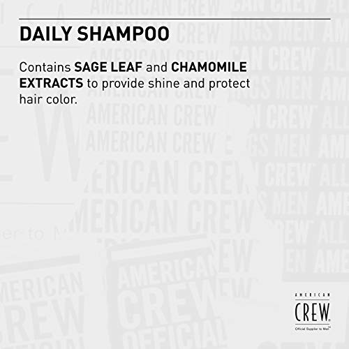 AMERICAN CREW DAILY SHAMPOO Shampoing Quotidien pour Cheveux/Cuir Chevelu Normaux à Gras, 250ml image 2