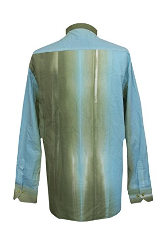 Jenson Samuel Shirts -  Camicia Casual  - Floreale - Grandad  - Uomo Turquoise/Green Multi