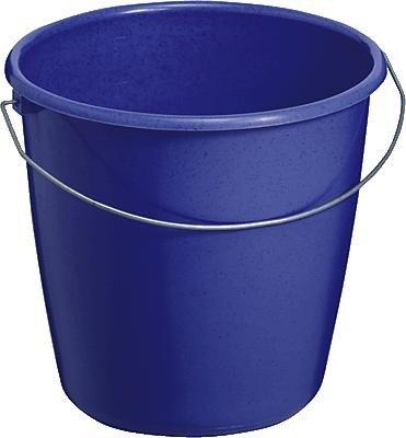 TEKO Kunststoff Haushalt Eimer mit Metall Halterung, blau, 30x 22,5x 21,5cm