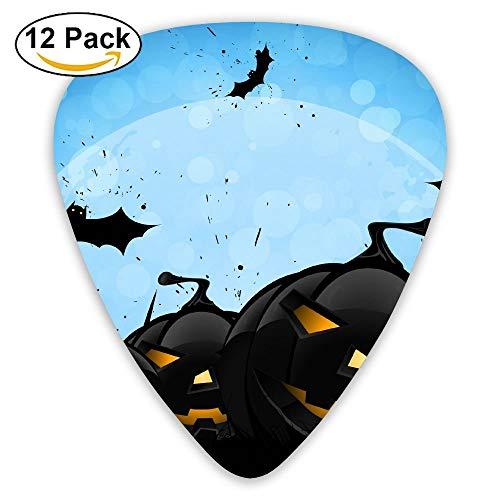 Halloween Cartoon Cute Lovely Bat Pumpkin Guitar Pick 12pack
